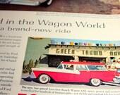 Vintage 1958 Ford Magazine Advertisement Classic Colors