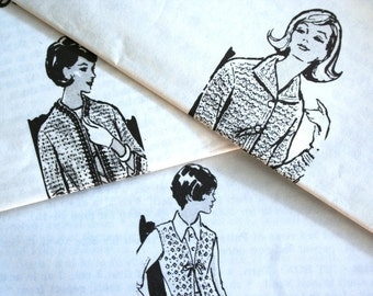 Vintage Crochet Jacket Vest and Sweater Trio Laura Wheeler Patterns with Envelopes Different Eras