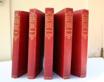 Antique Book Collection Little Masterpieces Essays Letters Verses Orations Literary Artists