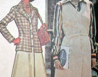 Vintage 70s Jacket and Jumper Sewing Pattern McCalls 5207 Sizes 16 18 20
