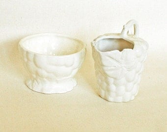 Vintage Porcelain Cream and Sugar Set