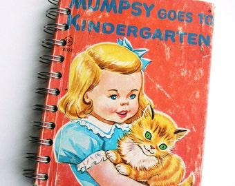 Reinvented Vintage Childrens Book Notebook Scrapbook Complete with Original Story Mumpsy Goes to Kindergarten