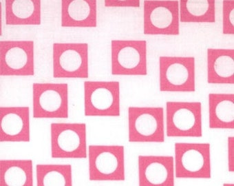 SALE One Yard Sherbet Pips by Aneela Hoey for Moda - Bubble Gum Pink Play Dots