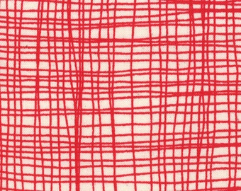 One FAT QUARTER Summersville - Lucie Summers for Moda - Weave in Bus Red