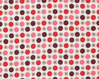 One Yard Denyse Schmidt, Flea Market Fancy - Legacy Collection, Flower and Dot in Red