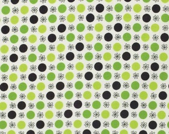 One Yard Denyse Schmidt, Flea Market Fancy - Legacy Collection, Flower and Dot in Green