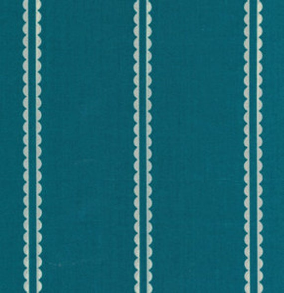 SALE One Yard Anna Maria Horner Little Folks Voile - Pastry Line in Marine