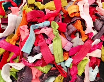 200 hairties : Such A Deal Collection of ribbon elastic hair ties, Grab bag of hairtys