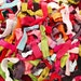 100 hairties : Such A Deal Collection of ribbon elastic hair ties, Grab bag of hair ties