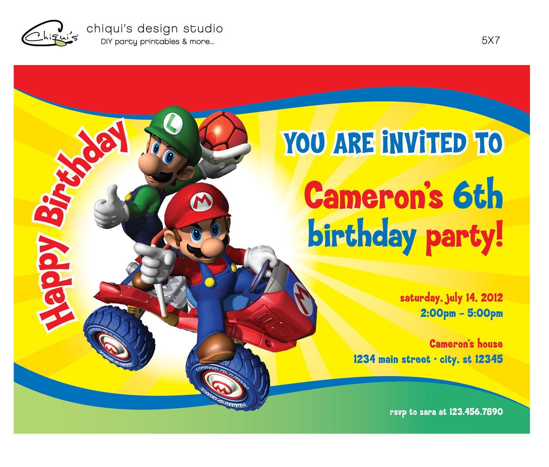 Super Mario Birthday Invitations is great invitation ideas