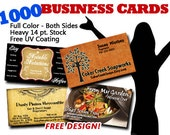 1000 Full Color Business Cards with FREE DESIGN