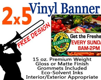 2x5 Custom Designed and Printed Vinyl Banner GREAT 4 CRAFT SHOWS