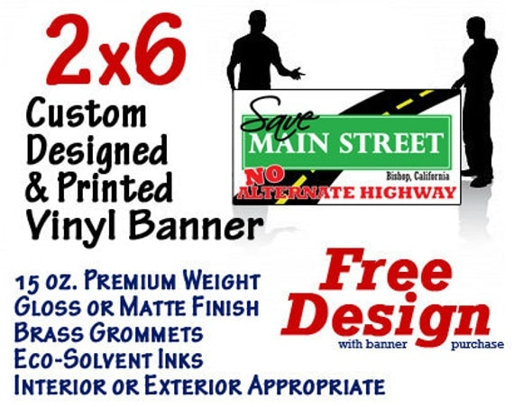 2x6 Custom Designed and Printed Vinyl Banner GREAT 4 CRAFT SHOWS