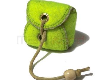 Handmade Recycled Tennis Ball Mini Bag/ Change Holder 2