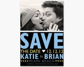 Save The Date Bright and Bold Wedding Card or Magnet