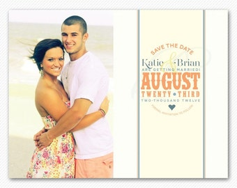 Save The Date Magnet or Card - Fresh Springtime