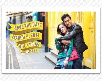 Save The Date Card or Magnet - Modern Banner