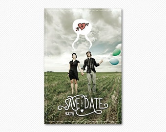 Save The Date Postcard or Magnet - The Arrow