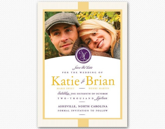 Save The Date Modern Meets Classic Card or Magnet