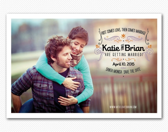 Save The Date Card or Magnet - Flow