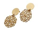 filigree lace earrings,Post Earrings,Gold post earrings,stud earrings,gold stud earrings,modern jewelry,minimalist earrings,gold,filigree