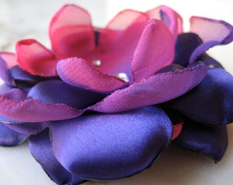 Pink and Purple Fabric Flower