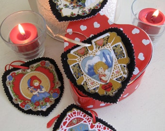 Vintage Valentine's Day Gift Tags set 1