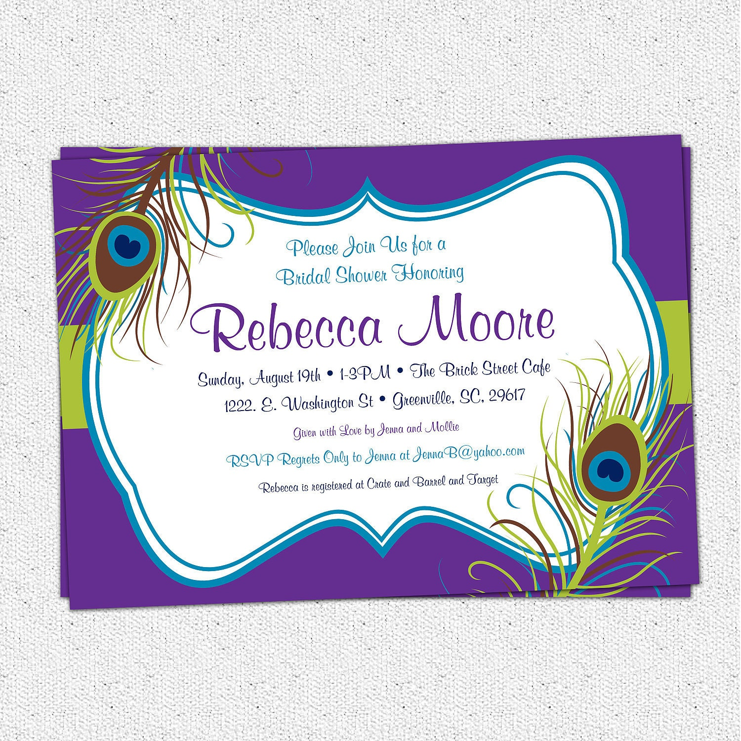 Design Your Own Bridal Shower Invitations for beautiful invitations example