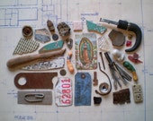 Found Objects for Altered Art, Sculpture or Assemblage - Salvaged Supplies - Bone Metal Stone Ceramic Wire Plastic Paper Glass
