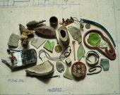 Found Objects - Salvaged Supplies for Assemblage, Altered Art or Mixed Media - Bone Metal Wood Ceramic Wire Glass