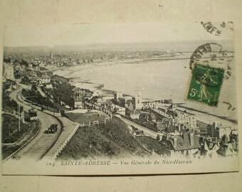 Sainte Adresse - 1917 - Antique French Postcard - Vue Generale du Nice Havrais