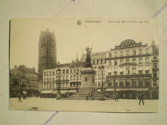 Dunkerque - Place Jean Bart - Early 1900s - Antique French Postcard