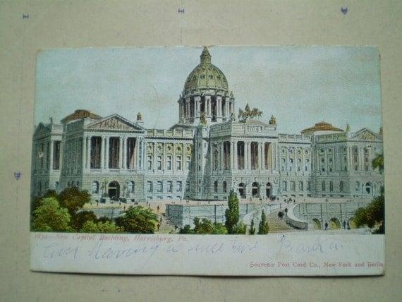 New Capitol Building - 1906 - Harrisburg, PA - Antique American Postcard