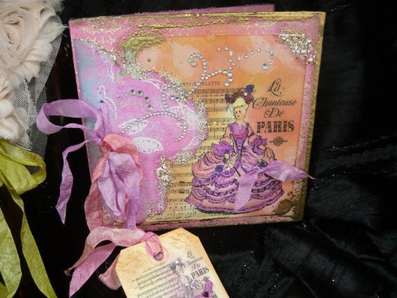 Journal album Marie Antoinette with bookmarker