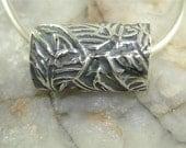 Autumn Fantasia Necklace-PMC Pure Silver-Slide Bead