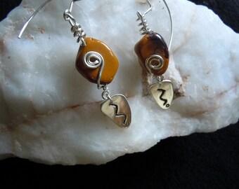 Fine Silver Earrings - Wire-wrapped Beaded Earrings - Small Dangles - Mookaite Earrings - Metaphysical Powers