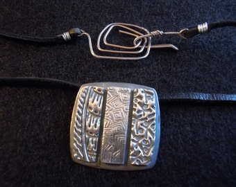 Three Makes Company-Fine Silver-One of a kind-Handmade Necklace-Handmade  Wire Clasp