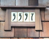Custom House Numbers in a Craftsman Frame - For 4 numbers