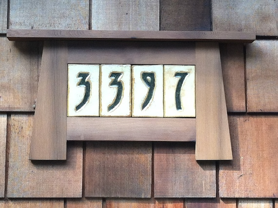 Items similar to custom house numbers in a craftsman frame for House number frames