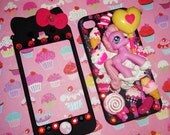 Custom Deco HELLO KITTY iPhone Two Faceplate Cell Phone Case - SAMPLE