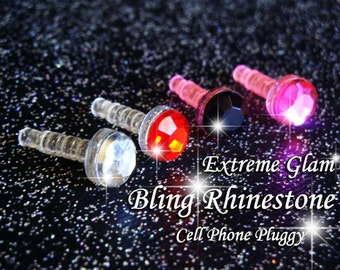 Extreme Glam Bling Rhinestone Cell Phone Pluggy