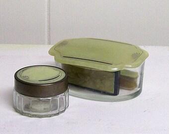 Celluliod  Dresser Set Manicure Set Jars Bowls