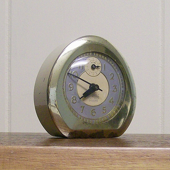Vintage Alpine Deluxe Wind Up Alarm Clock