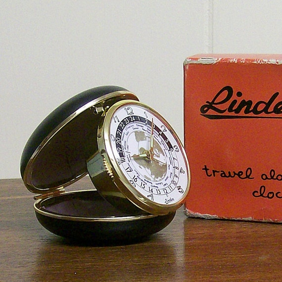 Vintage Linden World Time Travel Alarm Clock