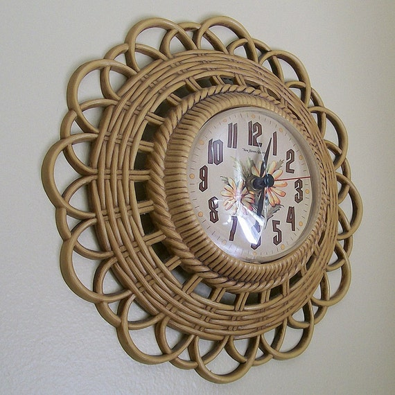 That 70's Basket Weave Wall Clock