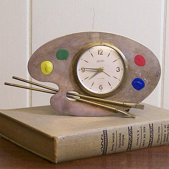 Vintage Table Clock for the Artist
