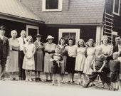 Vintage Family Photograph, 1930's, Framed, Black and White