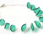 Sterling silver and green acrylic hand made short necklace