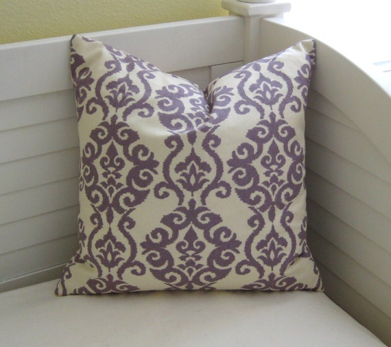 "Modern Waverly Luminary Lilac 18""x18"" Pillow Cover"