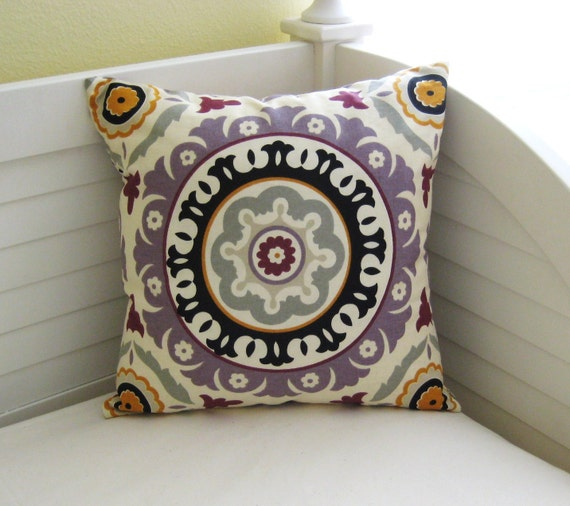 "Modern Waverly Solar Flair 18""x18"" Pillow Cover"